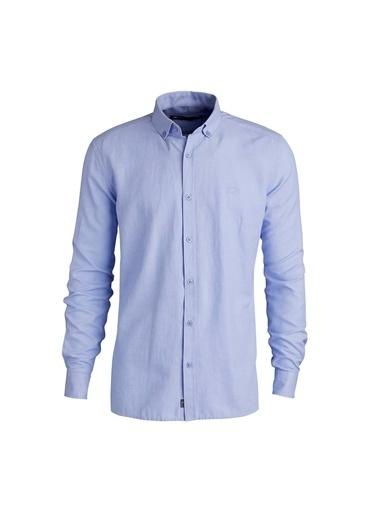 Bad Bear Bad Bear 20.01.30.002 Patrick Shirt Petroleum Uzun Kol Blue Erkek Gömlek Mavi